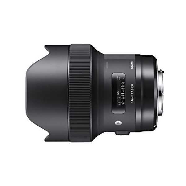 Sigma 14mm F/1.8 DG HSM Art lens (For Canon) - Black