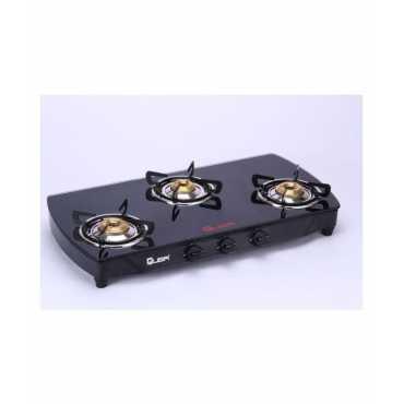 Quba Polo Arc Manual Gas Stove (3 Burners) - Black