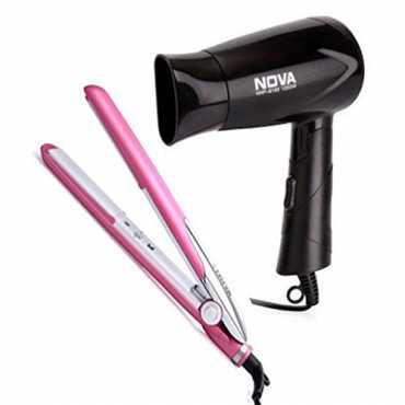 Nova NHS-891 Straightener and NHP-8100 Hair Dryer - Pink