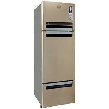 Whirlpool FP 283D Protton Royal 260 Litres Triple Door Refrigerator (Mirror) - Bronze | Black | Steel
