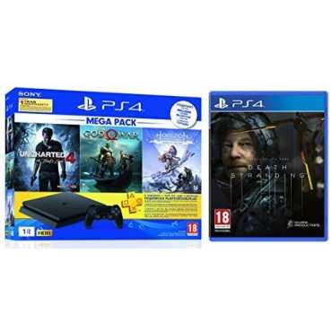 Sony PS4 1 TB Slim Console (God of War/Uncharted 4/Horizon Zero Dawn & PS4 Death Stranding)