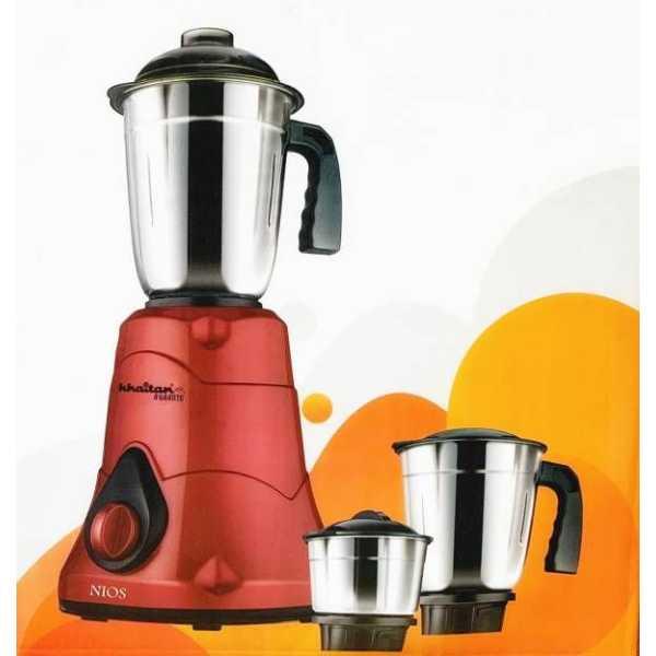 Khaitan NIOS 500W Mixer Grinder (3 Jars)