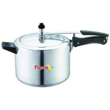 Pigeon 144 Aluminium Classic 5 L Pressure Cooker (Inner Lid) - Silver