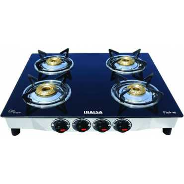 Inalsa Flair Stainless Steel Manual Gas Cooktop (4 Burners) - Black