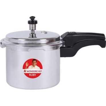 Wonderchef Ruby Aluminium 3L Induction Bottom Pressure Cooker(Outer Lid)