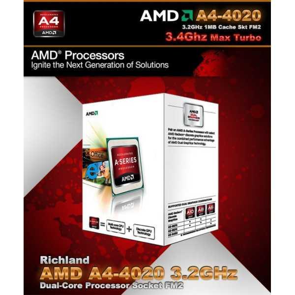 AMD 3.2Ghz FM2 A4 - 4020 Processor - Red