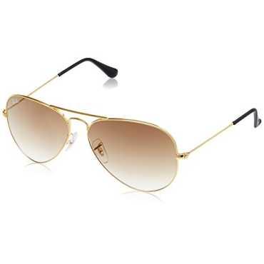 Aviator Unisex Sunglasses RB3025 001 51 58 58 millimeters Brown