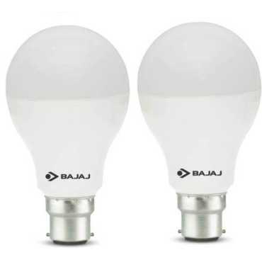 Bajaj Corona 12W Standard B22 1200L LED Bulb (White,Pack of 2) - White