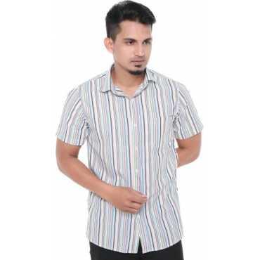 Old Khaki Men's Striped Formal Multicolor Shirt