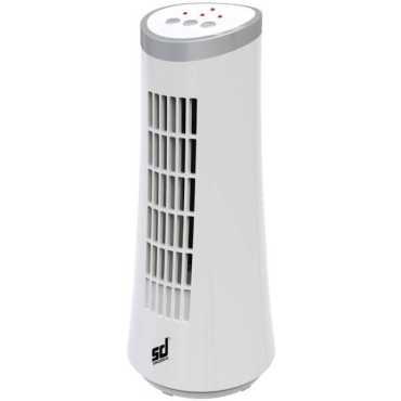 Smiledrive Portable Mini Tower Desk Fan - White