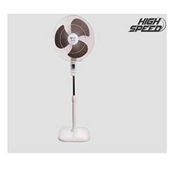 Orient Stand 37 3 Blade (400mm) Pedestal Fan - Brown | Grey