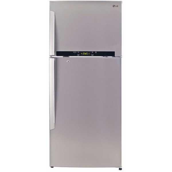 LG GL-T522GNSX 470L 4 Star Double Door Refrigerator (Noble Steel) - Steel | Silver