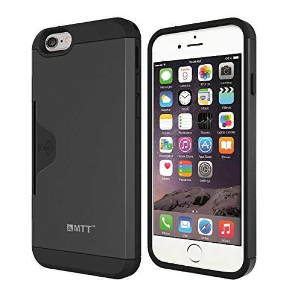 MTT Golf Fit Shock Proof Premium Case for iPhone 6S Plus/6 Plus (Dark Silver)
