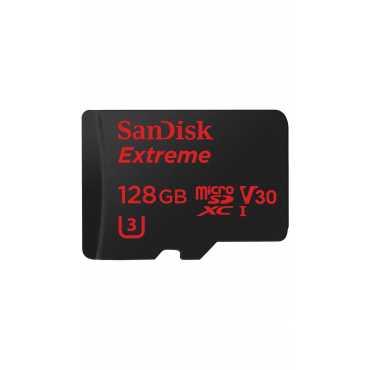 SanDisk Extreme 128GB MicroSDXC UHS 3 (90 MB/s) Memory Card - Black