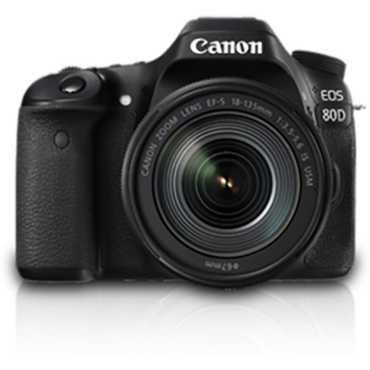Canon EOS 80D DSLR (with 18-135mm IS USM Lens) - Black