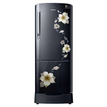 Samsung RR20M282ZB2/NL 192L 3S Single Door Refrigerator (Star Flower) - Black