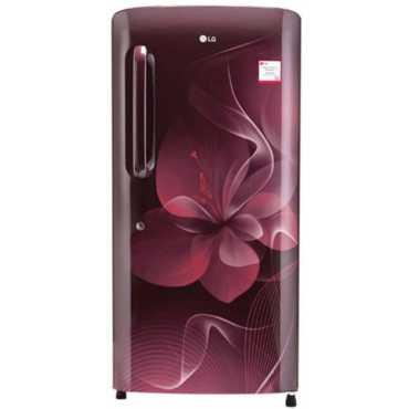LG GL-B221ASDX 215 L 4 Star Inverter Direct Cool Single Door Refrigerator (Scarlet Dazzle) - Red
