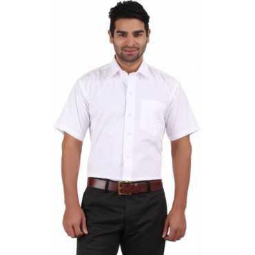 Men's Solid Formal White Shirt