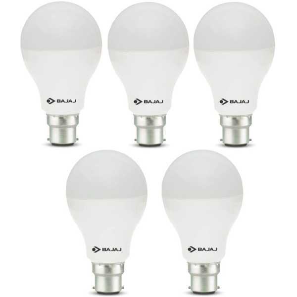 Bajaj 12 W 830066 LED Bulb B22 White (pack of 5) - White