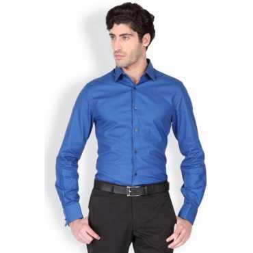 Men's Solid Formal Blue Shirt