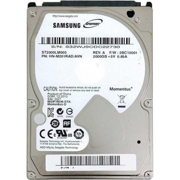 Samsung SpinPoint M9T (ST2000LM003) 2TB Laptop Internal Hard Drive