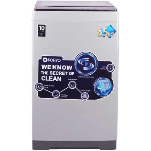 Koryo 6.5 kg Fully Automatic Top Load Washing Machine (KWM6820TL)