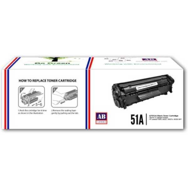 AB Cartridge 51A / Q7551A Black Toner Cartridge