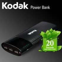 Kodak PBP03 10000mAh Power Bank - Black