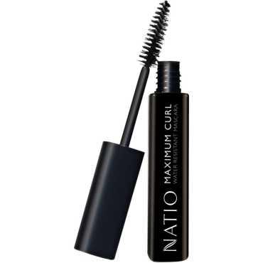 Natio Maximum Curl Water Resistant Mascara -Blackest Black (10ml) - Black