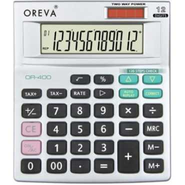 Oreva OR-400 Basic Calculator - Black