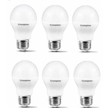 Crompton Led Pro 7W Standard E27 600L LED Bulb White Pack of 6