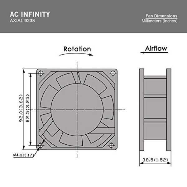AC Infinity HS9238A-X Standard Cooling Fan