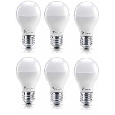 Syska 7W E27 Round LED Bulb (Yellow, Pack of 6) - Yellow