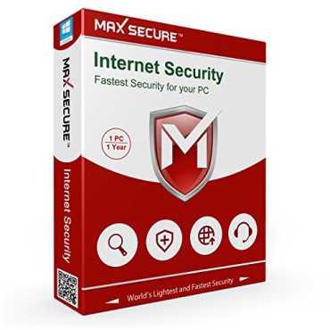 Maxsecure Internet Security Version 6 1 PC 1 Year Antivirus