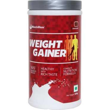MuscleBlaze Weight Gainer (500 gm, Chocolate) - Brown