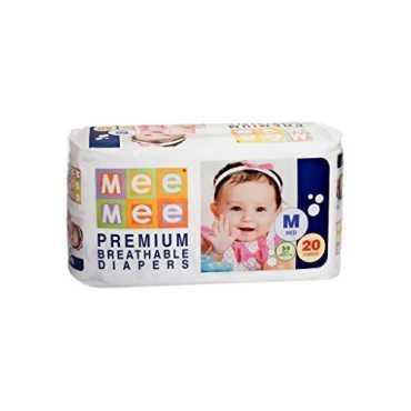 Mee Mee Premium Breathable Diapers Medium (20 Pieces)