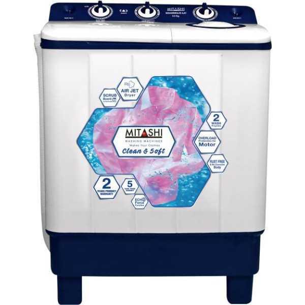 Mitashi 6.5 kg Semi Automatic Top Load Washing Machine (MiSAWM65V35 AJD)