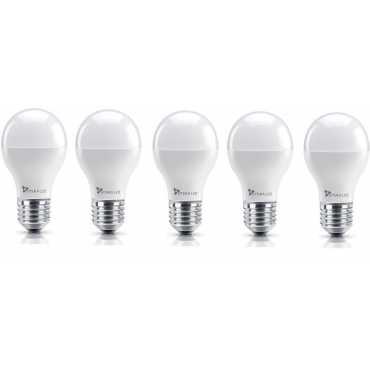 Syska 7W E27 Round LED Bulb (Yellow, Pack of 5) - Yellow