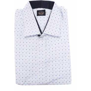 Old Khaki Men's Printed Formal Multicolor Shirt