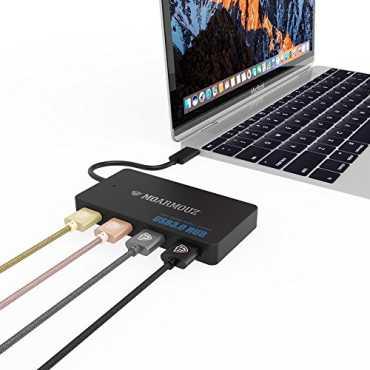 MoArmouz Type C 4 Port USB Hub - Black | White