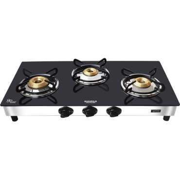 Maharaja Whiteline GS-104 Manual Gas Cooktop (3 Burner) - Black | Steel