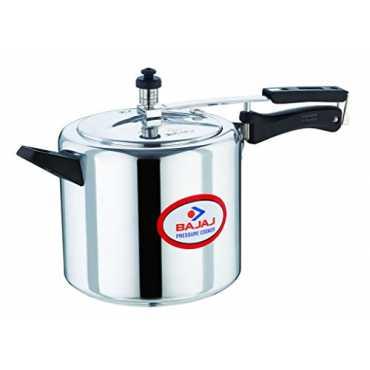 Bajaj Majesty PCX 38 Aluminium 8 L Pressure Cooker (Inner Lid) - Silver