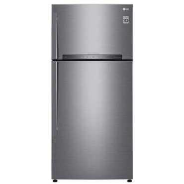 LG GN-H602HLHU 511L 3S Double Door Refrigerator - Platinum | Steel