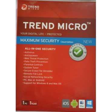 Trend Micro Maximum Security  2015 1 PC 1 Year