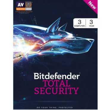 Bitdefender Total Security 2017 3 PC 3 Year Antivirus (Activation Key)