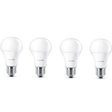Philips Stellar Bright 7W E27 LED Bulbs (Pack of 4, Warm White) - Yellow | White