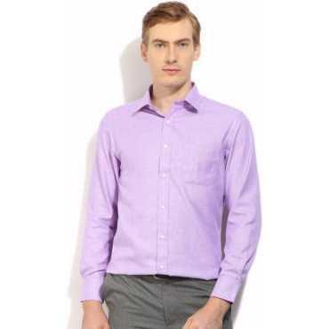 Men's Woven Formal Purple Shirt