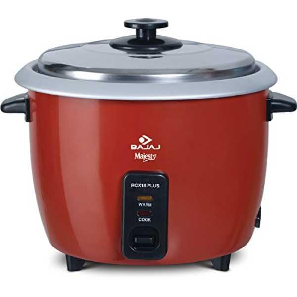 Bajaj Majesty RCX 18 Plus 1.8 Litre Rice Cooker - Red
