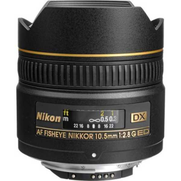 Nikon 10.5 mm f/2.8G ED Fisheye AF DX Nikkor Lens
