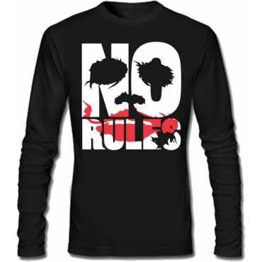 Printed Men's Round Neck Black T-Shirt